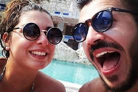 italian couple who tried to flag down a ryanair jet image facebook
