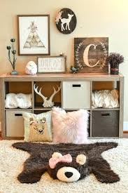 navy blue striped nursery rug plush soft rugs for white area fresh bear faux woodland baby