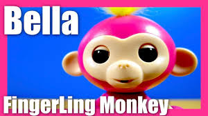FingerLings Bella Baby Monkey Pink Finger-Ling With Yellow Hair ...