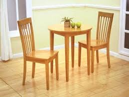 2 chair kitchen table dinette decor with small round natural wooden dining tables natural maple