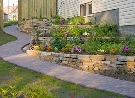 Relaxing front yard fence remodel ideas Backyard 10 Lush Landscaping Ideas For Hilly Backyard Bob Vila Backyard Slope Landscaping Ideas 10 Things To Do Bob Vila