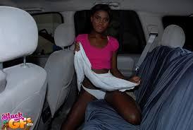 Ebony amateur car sex