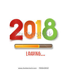 paper flyer happy new year 2018 template poster stock vector 626855579