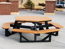 beautiful hexagon picnic table plans