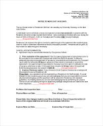 30 day notice to move out letter 30 day notice 9 free word pdf documents download free