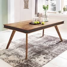 Massiver Esstisch Shessham 180 200 Cm Esszimmertisch Massiv Holz Design Tisch