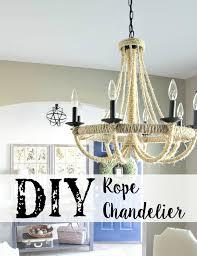 restoration hardware chandelier. DIY Rope Chandelier Fin Restoration Hardware