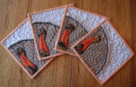 Keepin' In Stitches: Quilted Hot Pad Holders -- Applique Turkey ... & Click here to print your FREE Quilted Turkey Hot Pad Pattern Adamdwight.com