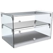 marchia sa50 22 countertop dry straight glass display case