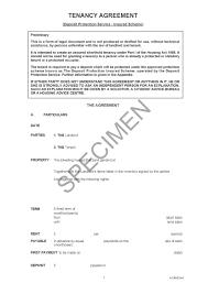 Sample Tenancy Agreements Tenancy Agreement Deposit Protection Service Insured Scheme 5