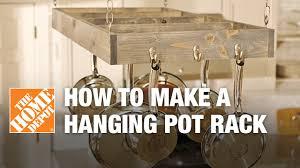 Hanging Kitchen Pot Rack Diy Hanging Pot Rack Youtube