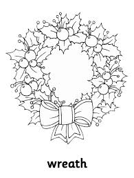 Christmas Wreath Coloring Pages Free Coloring Pages For Christmas