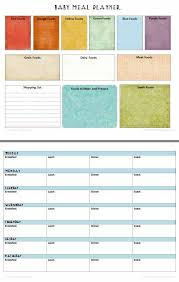 Baby Meal Planner Free Printable Baby Food Recipes Baby