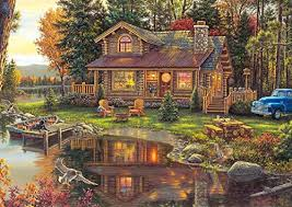 Can you really connect all those lost jigsaw puzzle pieces in he sawed a black and white paper geographic map pasted onto a wooden base, which had to be reassembled. Amazon Com Buffalo Games Kim Norlien Peace Like A River 300 Large Piece Jigsaw Puzzle With Hidden Images Toys Games