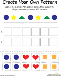 Abc Pattern Adorable Shape Patterns Worksheet Education