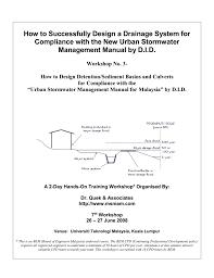Sediment Basin Design Spreadsheet 2 Design Of Detention Basin