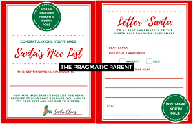 Making A Certificate Letter To Santa Certificate For Making Santas Nice List