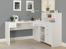 com monarch hollow core l shaped home office desk white kitchen dining