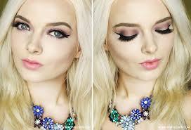 smokey eye halo eye tutorial swatch review pale skin make