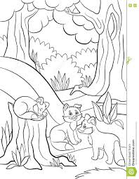 21 Forest Animals Coloring Page, Deciduous Forest With Animals ...