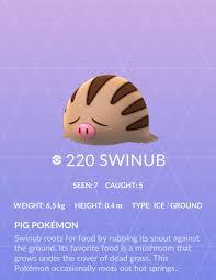 Swinub Pokemon Go Wiki Guide Ign