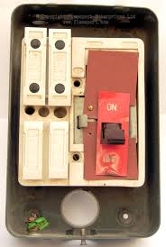 mem 4 way enclosed grey metal fuse box 2 interior view of a mem four way fusebox