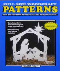 Wood Craft Patterns Mesmerizing Silent Night Nativity WOOD CRAFT PATTERN Small Size Etsy
