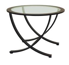 Round End Tables With Glass Top Humbling On Table Ideas In Company With  Tables INSPIRE Q Davlin ...