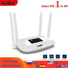 <b>KuWFi Unlocked</b> 300Mbps Wifi Routers <b>4G LTE</b> CPE Mobile Router ...