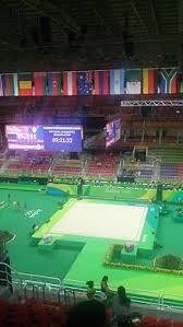arena olímpica prior to the rhythmic gymnastics peion