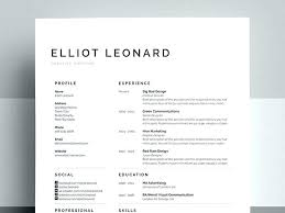 Clean Cv Template Word Free Resume Designs Templates Bank Check Out