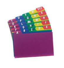 Tabbed Index Cards 4x6 Oxford Poly Index Card Guides Alphabetical A Z Assorted Colors 4