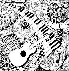 Halloween music coloring pages free. Abstract Music Coloring Pages For Adults Coloring4free Coloring4free Com