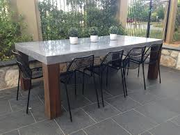 architecture diy concrete tables beautiful design outdoor dining table intended for plan 5 white marble fireplace