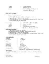Unique Welder Resume Resume Examples Resume Template
