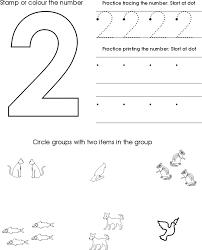 Number Worksheets for Preschool   Kiddo Shelter