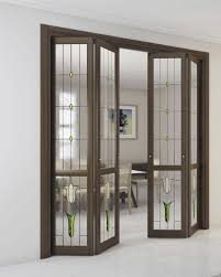 indoor door folding wooden glass elegance alessandra tiffany