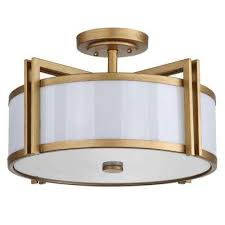 orb 3 light antique gold semi flush mount light antique gold