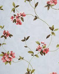 Behang Bloemen Rood