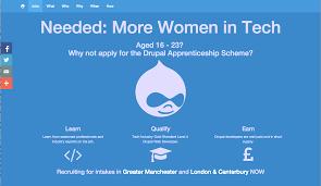 Ux Design Apprenticeship London Drupal Apprenticeship Scheme Working With Young Women To