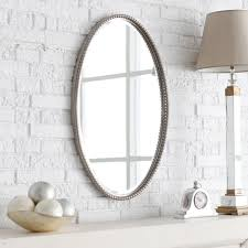 uttermost sherise nickel finish oval beveled mirror 22w x 32h in hayneedle