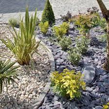 strip idea slate garden gravel garden plum slate steep hillside landscaping