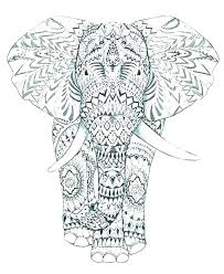 Elephant Mandala Coloring Pages Complex Free Geometric Exclusive