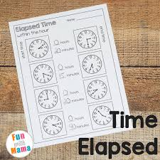 Elapsed Time Worksheets - Fun with Mama