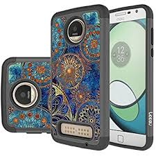 moto 2z play. moto z2 play case, leegu [shock absorption] dual layer heavy duty protective silicone 2z