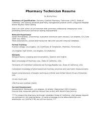 Pharmacy Tech Resume Samples Cool Resume Sample Pharmacy Technician Entry Level For Tech Template