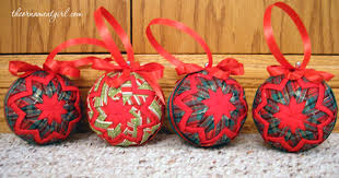 red quilted christmas ornaments – The Ornament Girl & red quilted christmas ornaments Adamdwight.com