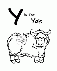 Letter Y Alphabet Coloring Pages For