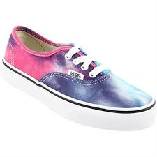vans shoes for boys. vans authentic tie dye skate - boys | girls pink shoes for h