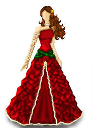 Roses Ribbons And Pearls Dress Fashion Design By Crazycapricorn